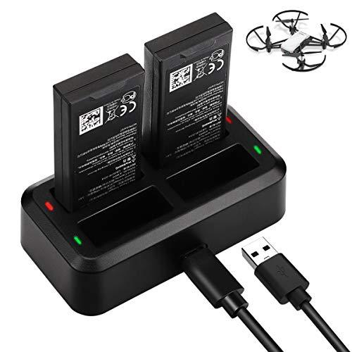 Keenstone Tello Akku Batterie Ladegerät, 4 in 1 Paralleles Ladestation Hub für DJI Tello Drone Batterie