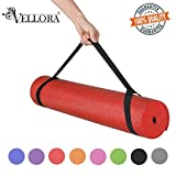 VELLORA Yoga Mat Anti Skid Yogamat for Gym Workout and Flooring Exercise