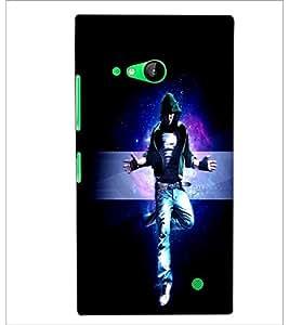 PrintDhaba Dancing Boy D-2391 Back Case Cover for NOKIA LUMIA 730 (Multi-Coloured)
