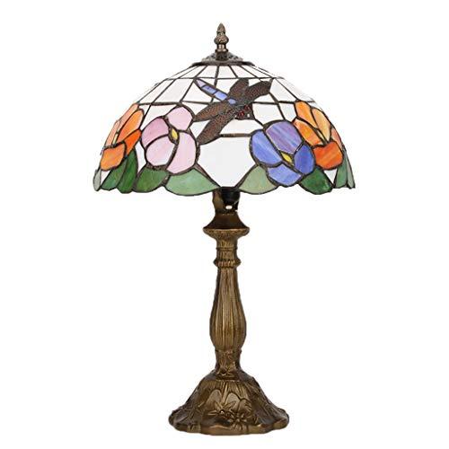 Wang Lining Tiffany Lampe De Bureau Moderne Chambre Minimaliste Étude Verre  Veilleuse (Couleur : A)
