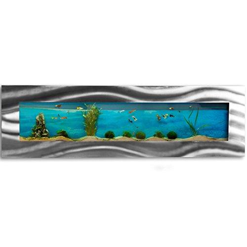 Wandaquarium 1525x430x110mm, Komplett XXL Zubehör Set Nano Aquarium Pumpe IPX8 Norm Leuchte uvm