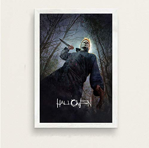 haoxinbaihuo Halloween Klassische Horrorfilm Serie Kunst Malerei Seide Leinwand Poster Wand Wohnkultur 40 * 60 cm Kein Rahmen -