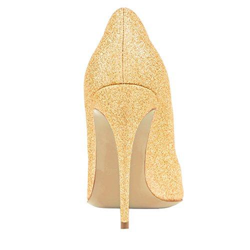 EKS, Scarpe col tacco donna Gold-Glitter