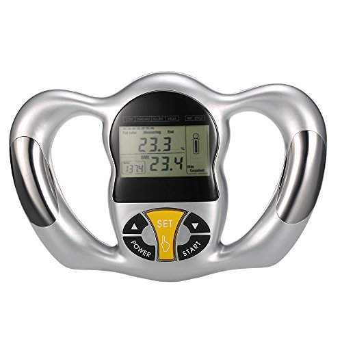 Anself - Medidor de Grasa Corporal, Analizador BMI Kcal Manual, LCD Pantalla