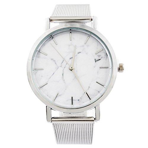 Souarts Damen Armbanduhr Marmor Muster Deko Quarz Uhr mit Batterie Charm Geschenk