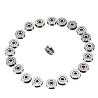 Keyren V623ZZ V Groove Bearing,Pulley For Rail Track Linear Motion System 3x12x4mm 20pcs
