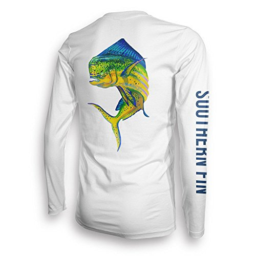 69c885b6e Southern Fin Apparel Performance Fishing Shirt SPF UPF 50 Dri Fit Mens Long  Sleeve (X