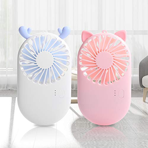 nieliangw0q Tragbarer Mini-Handheld-USB-Stummschaltventilator Für Büro-Reisekühler Rosa -