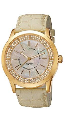 ESPRIT-es103812005-Ladies Watch-Analogue Quartz-Beige Dial Beige Leather Strap