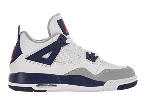 Nike Mädchen Air Jordan 4 Retro Gg Laufschuhe Blanco / Naranja / Azul (White / Hypr Orng-Dp Ryl Bl-Wlf)
