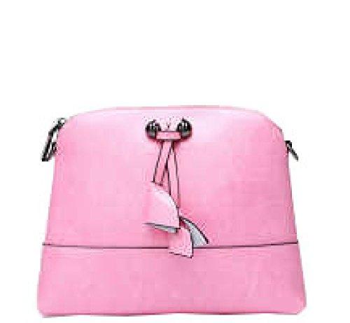 PACK Corea Del Sud Corea Le Signore Di Cuoio Di Modo Signore Shells Spalla Diagonal Packet,C:Beige B:Pink