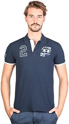 La Martina Camisa de Polo de manga corta para hombre con varios logos