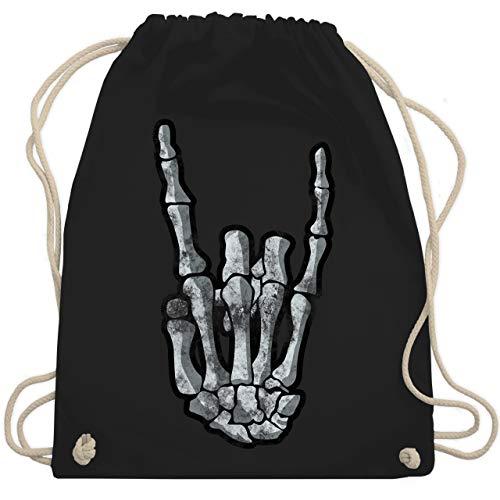 Metal - Metal Horns Skelett Hand - Unisize - Schwarz - WM110 - Turnbeutel & Gym Bag