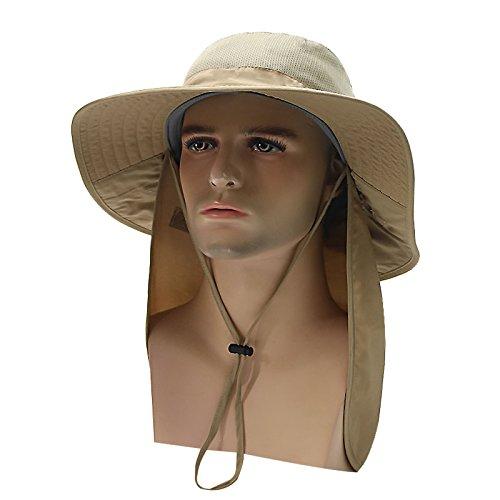 Bluelover Outdoor Big Hut mit Faltbaren Mantel Schatten Sonnenlicht Anti-UV-Reduzierbare Mehrzweck- - Khaki
