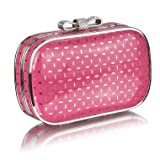Pink Crystal Evening Clutch Bag