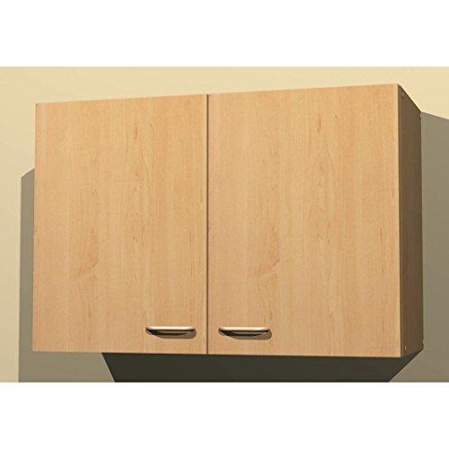 Küchen Hängeschrank in verschiedenen breiten Start Melamin Buche/Buche (80cm breit)