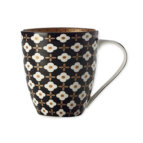 Bruno Evrard Mug en Porcelaine Fleur Blanche 50cl - Lot de 4 - Marigold
