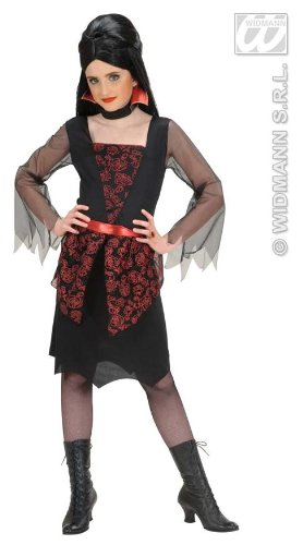 Kinder-Kostüm-Set Edel-Vampirin, Größe 158 (Edel Fancy Dress)