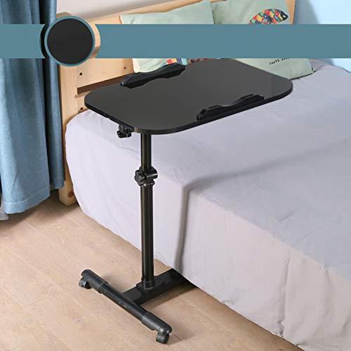 Rolling Laptop Desk Beistelltisch Schreibtisch Warenkorb Mit Tilting,tablett-beistelltisch Einstellbare Höhe Laptop-schreibtischwagen, Computer-Stand Rollwagen-i -