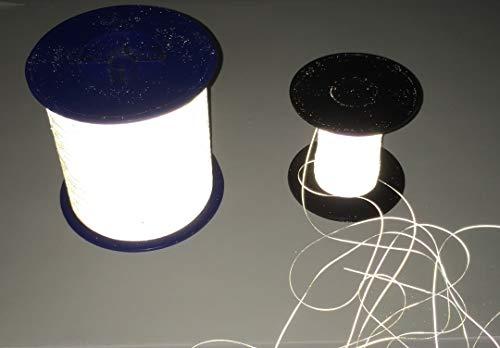 Reflektierender Garn 0.5mm Schnur/Nähgarn - Reflektorstoff Silber Stickgarn - Reflektor/Reflexstoff - stark reflektierend (500 oder 4.000Meter) (500 Meter) (Logo Häkeln)