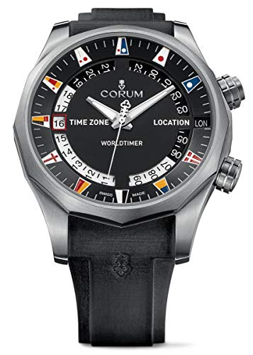 CORUM MEN'S ADMIRAL S CUP LEGEND 47 WORLDTIMER 47MM WATCH 637.101.04/F371 AN02