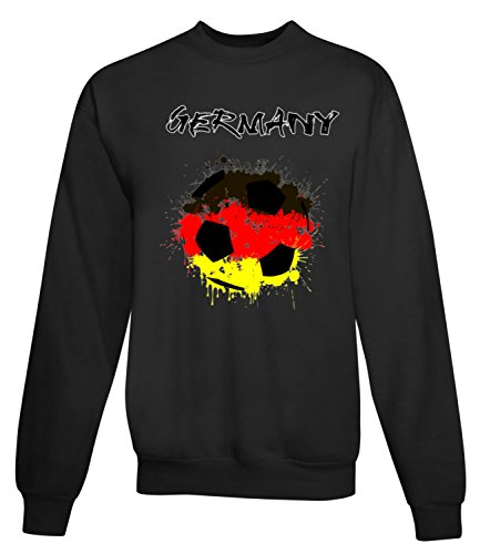 Billion Group | Germany Flag | Football Sport Illustration | Women's Unisex Sweatshirt Noir