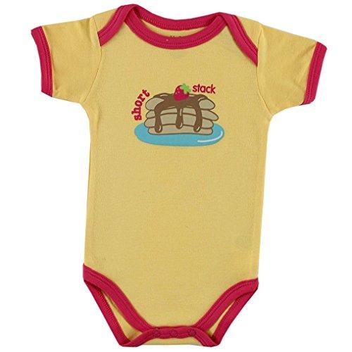 Luvable Friends Body pour bébé avec citation -  jaune - S