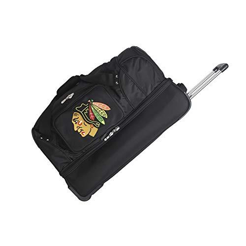 NHL Drop Bottom Rolling Duffel, Unisex-Erwachsene, Chicago Blackhawks, 27-Inch