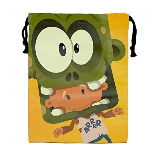 Naiyin Zombie Boy Gym Bag for Travel/Home Storage Drawstring Shoe Pouch Bags