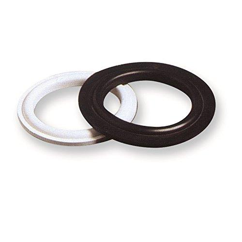Joints sottopiletta 25 joints sottopiletta avec butée extérieure mm.72 x 52 x 6 PVC Blanc doux (nombre de pièces par Lot de 25)
