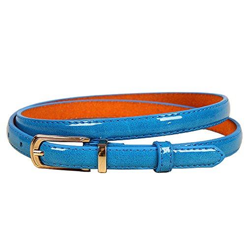 Damen Leder gürtel (bunt) (blau)
