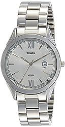 Timex Analog Silver Dial Mens Watch-TW000Y906