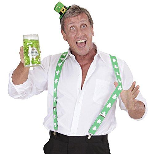r St. Patrick's Day Hosenträger grün-weiß Braces Herren Leprechaun Bundhalter Kostüm Accessoire Irland Ire St Particks Day Y-Form Hosen Träger (Ire Kostüm)