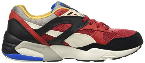 Puma R698 Flag, Sneakers Basses Homme Multicolore (Barbados Cherry-puma Black-whisper White)
