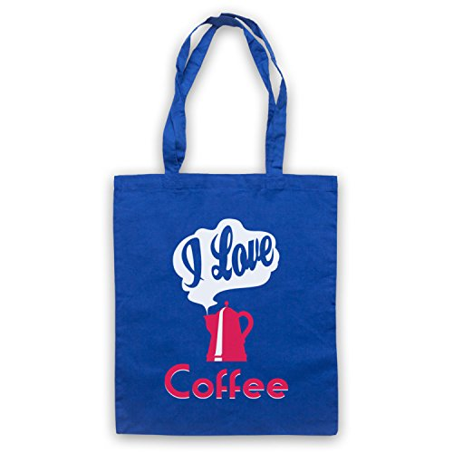 Amo Le Tasche Del Capo Dello Slogan Del Caffè Blu