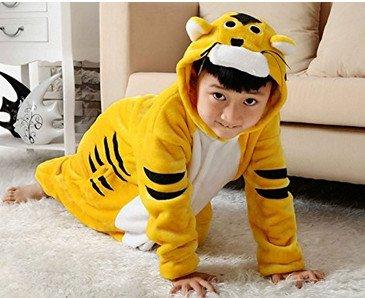 Kenmont Bambini Unicorno Pigiama Animale Kigurumi pigiamas Cosplay Costumi Tuta Carnevale Halloween Natale Camicie da Notte Tiger
