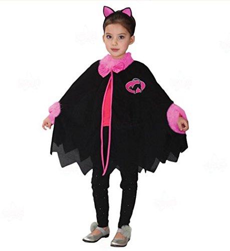 Kostüm Zombie Kätzchen (Halloween Kinder Kostüm Kleid Cosplay Hexe Fledermaus Katze Kätzchen dress up Kleid Kostüme Festival / Halloween / Weihnachten, C,)