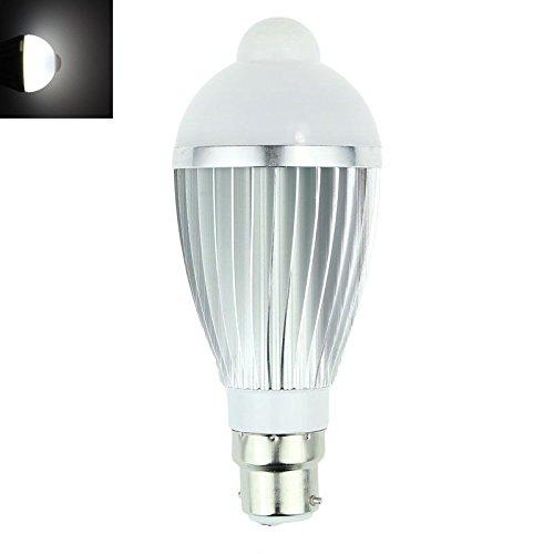 LED Glühbirne Tropfenlampe 3W Klar Glühlampe 5 Watt Glühbirnen Glühlampen dimmbar LED Motion Control PIR Sensor light Lamp Bulb(Silver) (Motion-sensor-schalter 220v)