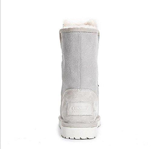 merletto delle donne stivali neve caviglia caldi lungo tubo più velluto scarpe caldo cotone meters white