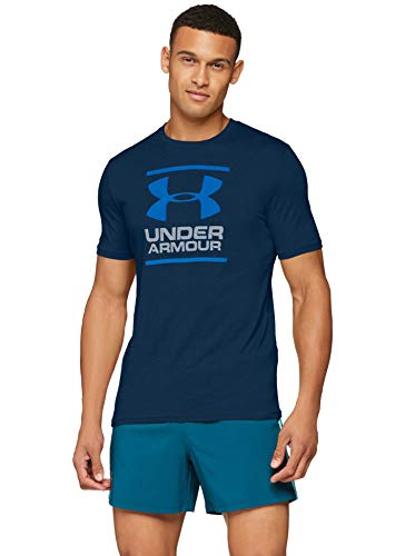 Under Armour Herren UA GL Foundation SS T Kurzarmshirt, Blau (Academy/Steel/Royal 408), SM