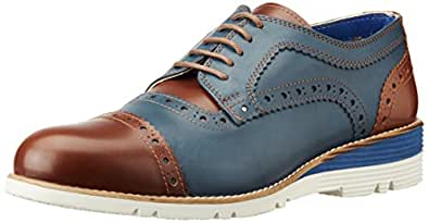 Fonti Men's Blue and Brown Shoes - 7.5 UK