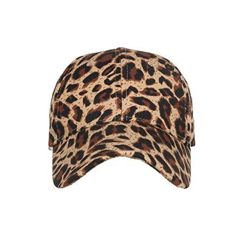CANDLLY Hut Damen, Deckel Kopfbedeckung Zubehör Unisex Klassisch Baumwolle Leopard Baseballmütze Sonnenhut Verstellbare Kappen Kopfschmuck Cap(Kaffee,One size) (Ravenclaw Hat Schal)