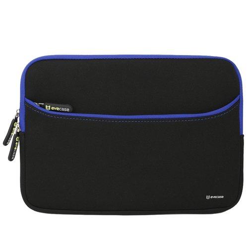 Evecase Laptoptasche 11,6Zoll, Tasche für Tablet oder Laptop, Schwarz und Blau
