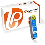 Bubprint Druckerpatrone kompatibel für Canon CLI-521C CLI 521 521C für Pixma IP3600 IP4600 IP4700 MP540 MP550 MP560 MP620 MP630 MP640 MP980 MP990 Cyan