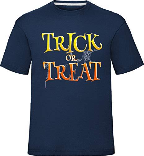 Kostüm Trick Oder Tasche Behandeln - Kinderhalloween Süßes sonst gibt's Saures T-Shirt (12-14 Jahre (Truhe 36