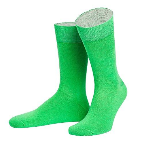 von Jungfeld - Herren Socken / Strumpf Herrensocken Baumwolle 1 Paar 42-44 grün
