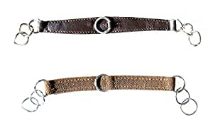 IV Horse Elastic Curb in Black or Brown (Black)