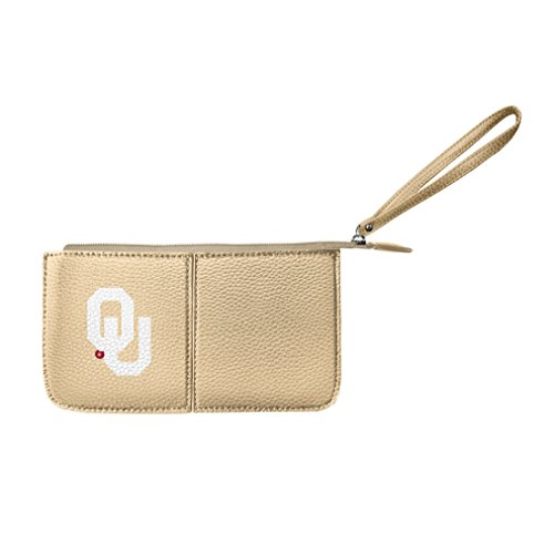 Littlearth Damen NCAA Oklahoma Sooners Pebble Wristlet, Gold, 20,3 x 10,2 x 2,5 cm -