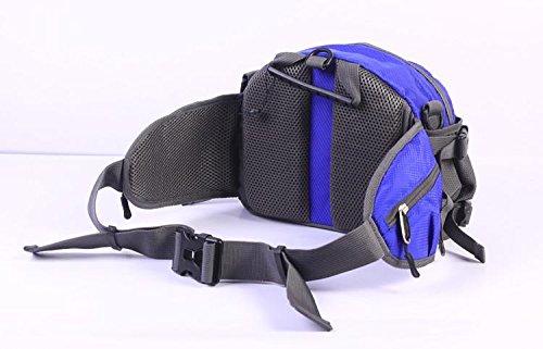 &ZHOU Männer und Frauen, Multifunktionsgeldbeutel Sports Rucksack-Handtasche Großvolumige Tasche Umhängetasche Rucksack Messenger Art und Weise Kurier deep blue