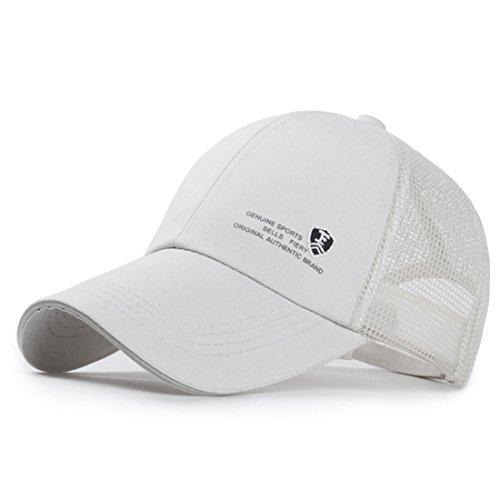 Baseball Cap Hut, Sport Hut Hysteresen für Männer und Frauen - Verstellbarer Sport Casual Sun Hut für Angeln Golf Reisen (Weiß) Weiße Golf Sonnenhut Männer